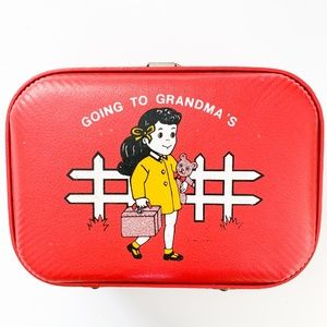 Going to Grandma's House Mini Vintage Suitcase